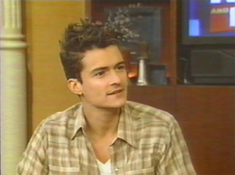 Orlando Bloom on Regis and Kelly January 10, 2001 Orlando Bloom